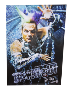 Jeff Hardy Autographed WWE No Way Out 2008 PPV Poster