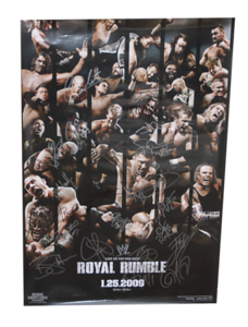 Autographed WWE Royal Rumble 2009 PPV Poster