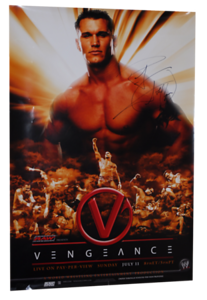 Randy Orton Autographed WWE Vengeance 2004 PPV Poster