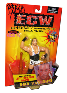 Rob Van Dam Autographed The Original San Francisco Toymakers ECW Series 1 Figure