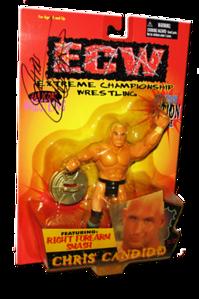 Chris Candido Autographed The Original San Francisco Toymakers ECW Series 1 Figure