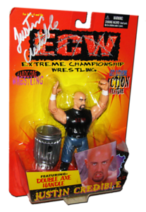 Justin Credible Autographed The Original San Francisco Toymakers ECW Series 1 Figure