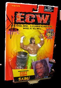 Sabu Autographed The Original San Francisco Toymakers ECW Series 1 Figure
