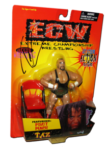 Taz Autographed The Original San Francisco Toymakers ECW Series 3 Figure
