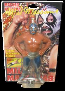 Mil Mascaras Autographed NJPW AJPW CMLL NOAH Japanese Wrestling Figure