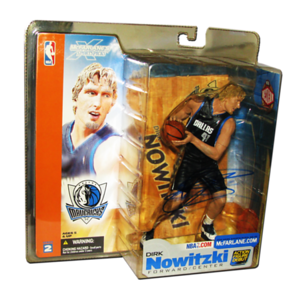 Dirk Nowitzki Autographed McFarlane Toys NBA Sports Picks Series 2 Figure (Dallas Mavericks - Black Jersey)