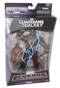 Dave Bautista aka DRAX Autographed MARVEL Guardians Of The Galaxy Figure