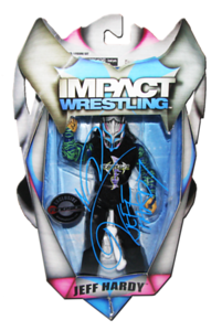 """Jeff Hardy Autographed """"FULL METAL HARDY"""" Ringside Collectibles Exclusive TNA IMPACT WRESTLING Figure"""