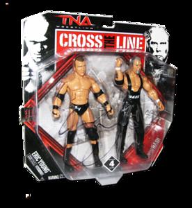 Eric Young & Kevin Nash Autographed JAKKS Pacific Series 4 TNA CROSS THE LINE 2 Pack Figures