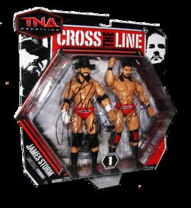 Beer Money Inc. James Storm & Robert Roode Autographed JAKKS Pacific Series 1 TNA CROSS THE LINE 2 Pack Figures