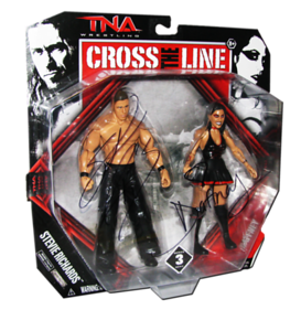 Stevie Richards & Daffney Autographed JAKKS Pacific Series 3 TNA CROSS THE LINE 2 Pack Figures