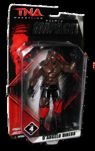 D'Angelo Dinero Autographed JAKKS Pacific TNA DELUXE IMPACT Series 4 Figure