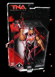 Hulk Hogan Autographed JAKKS Pacific TNA DELUXE IMPACT Series 4 Figure