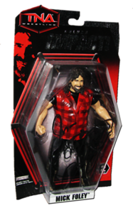 Mick Foley Autographed JAKKS Pacific TNA DELUXE IMPACT Series 2 Figure