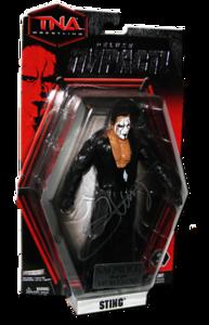 Sting Autographed JAKKS Pacific TNA DELUXE IMPACT Series 3 Figure