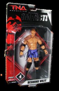 Desmond Wolfe Autographed JAKKS Pacific TNA DELUXE IMPACT Series 4 Figure
