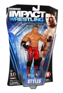 AJ Styles Autographed JAKKS Pacific TNA DELUXE IMPACT Series 8 Figure