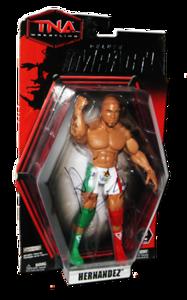 Hernandez Autographed JAKKS Pacific TNA DELUXE IMPACT Series 2 Figure