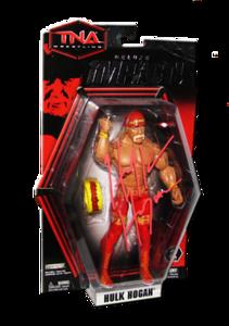 Hulk Hogan Autographed JAKKS Pacific TNA DELUXE IMPACT Series 3 Figure