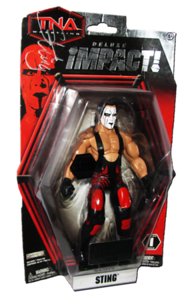 Sting Autographed JAKKS Pacific TNA DELUXE IMPACT Series 1 Figure