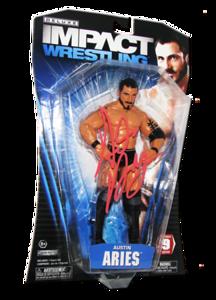 Austin Aries Autographed JAKKS Pacific TNA DELUXE IMPACT Series 9 Figure