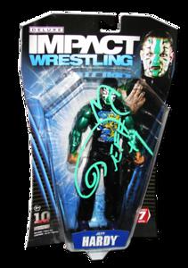 Jeff Hardy Autographed JAKKS Pacific TNA DELUXE IMPACT Series 7 Figure