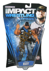 Bully Ray Autographed JAKKS Pacific TNA DELUXE IMPACT Series 12 Figure