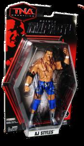 AJ Styles Autographed JAKKS Pacific TNA DELUXE IMPACT Series 2 Figure