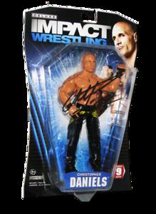 Christopher Daniels Autographed JAKKS Pacific TNA DELUXE IMPACT Series 9 Figure
