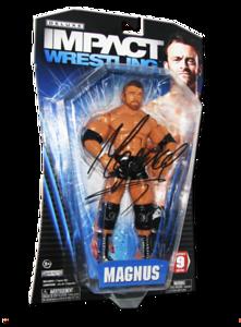 Magnus Autographed JAKKS Pacific TNA DELUXE IMPACT Series 9 Figure