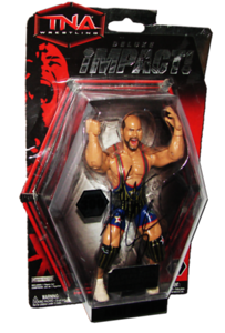 Kurt Angle Autographed JAKKS Pacific TNA DELUXE IMPACT Series 1 Figure