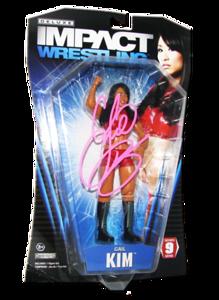 Gail Kim Autographed JAKKS Pacific TNA DELUXE IMPACT Series 9 Figure