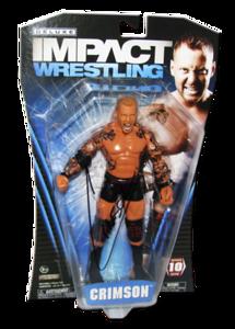 Crimson Autographed JAKKS Pacific TNA DELUXE IMPACT Series 10 Figure