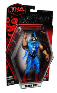 Shark Boy Autographed JAKKS Pacific TNA DELUXE IMPACT Series 3 Figure
