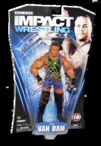 Rob Van Dam Autographed JAKKS Pacific TNA DELUXE IMACT Series 10 Figure