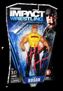 Hulk Hogan Autographed JAKKS Pacific TNA DELUXE IMPACT Series 8 Figure