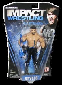 AJ Styles Autographed JAKKS Pacific TNA DELUXE IMPACT Series 11 Figure