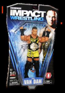 Rob Van Dam Autographed JAKKS Pacific TNA DELUXE IMPACT Series 8 Figure