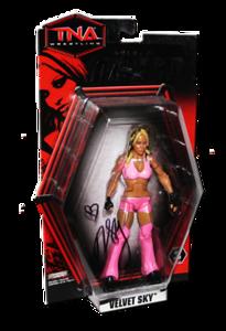 Velvet Sky Autographed JAKKS Pacific TNA DELUXE IMPACT Series 3 Figure