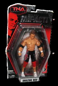 Amazing Red Autographed JAKKS Pacific TNA DELUXE IMPACT Series 2 Figure