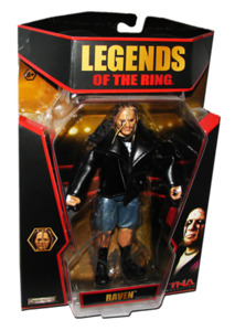 Raven Autographed JAKKS Pacific TNA LEGENDS OF THE RING Figure