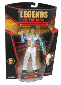 Jeff Hardy Autographed JAKKS Pacific TNA LEGENDS OF THE RING Figure