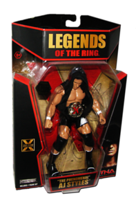 AJ Styles Autographed JAKKS Pacific TNA LEGENDS OF THE RING Figure