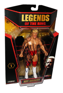 Jeff Jarrett Autographed JAKKS Pacific TNA LEGENDS OF THE RING Figure