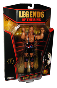 Kurt Angle Autographed JAKKS Pacific TNA LEGENDS OF THE RING Figure