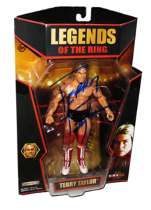 Terry Taylor Autographed JAKKS Pacific TNA LEGENDS OF THE RING Figure
