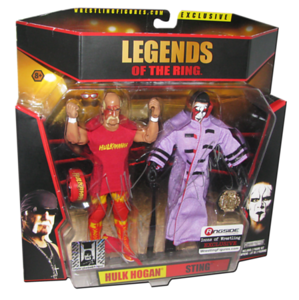 "Hulk Hogan & Sting Autographed ""Icons of Wrestling"" Ringside Exclusive 2-Pack Figure"
