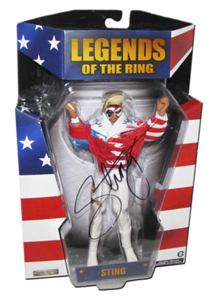 """Sting Autographed """"American Sting"""" Ringside Exclusive TNA Wrestling Figure"""