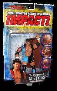 AJ Styles Autographed MARVEL Best Of TNA Series 2 Figure