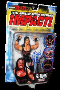 Rhino Autographed MARVEL TNA IMPACT! Series 4 Figure